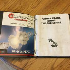 Manitowoc GROVE TMS500 SERIES SERVICE SHOP REPAIR MANUAL TRUCK CRANE 520 522 525