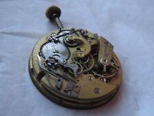 Casa Escasany chronograph pocket watch movement & enamel dial 44 mm. stem to 3