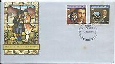 1986 Cook's Voyage Set 2 90c Stamps Fdi 12 Mar 1986 George Street Brisbane Qld 4