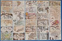 30 Fine Art Quality Vintage Antique Reproduction Map Postcards, Made in the UK