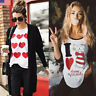 Fashion Women's Love Casual Long Sleeve Sweatshirt Pullover Tops Blouse T-Shirt