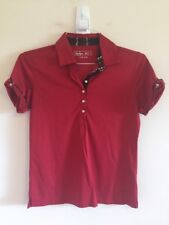 Womens Sz S Lady Hagen Polo Hydro-Dri Red Short Sleeve #D
