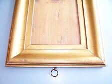 Raro Pequeño Antiguo Georgiano Dorado Hoja De Oro Marco De Fotos C.1820 de vidrio viejo Ogee