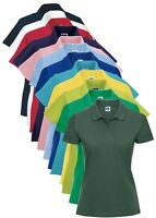 Russell Jerzees 569F Plain Womens Ladies Cotton Polo Shirt No Logo