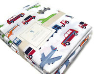 Pottery Barn Kids Organic Cotton Transportation Vehicles Brody Queen Sheet Set
