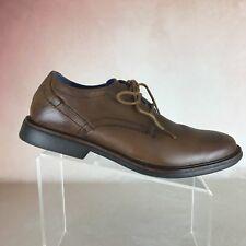 MARK NASON SKECHERS Cognac Leather Plain Toe Oxford Lace Up Shoes Men's Sz. 11.5