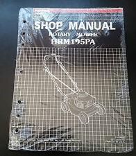 Honda HRM195PA Rotary Mower Shop Manual