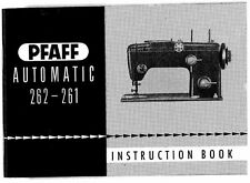 PFAFF 262-261 Sewing Machine Manual on CD