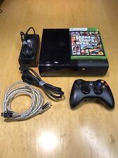 Microsoft Xbox 360 E Model 1538 4GB Black Console With 15GB Memory Stick & GTA5