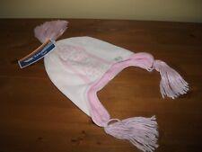 Girls Winter TRESPASS Pink ACRYLIC Knitted/Fleece Lined HAT Ski SIZE 8-10yrs New