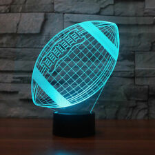 Rugby 3D Table Lamp LED Night Light Touch Lamp Xmas Kids Gift  7 Color Change