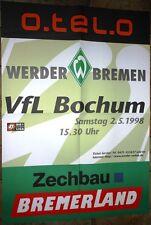Spielplakat - 02.05.1998 - Werder Bremen vs. VfL Bochum + Sammler +