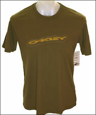 BNWT AUTHENTIC MEN'S OAKLEY BURNED T SHIRT SMALL NEW CREW NECK