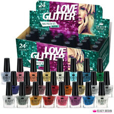 24 x Glitter Nail Polish 24 Different Shades Designer Box Safety Certificated UK