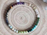 PROSPERITY, ABUNDANCE & WEALTH - CRYSTAL HEALING GEMSTONE BRACELET 4mm beads