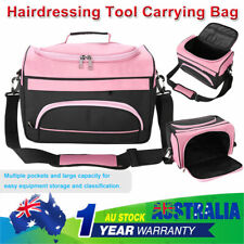Large Capacity Hairdressing Equipment Tool Carrying Bag Travel Storage Rose Pink