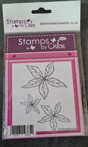 STAMPS BY CHLOE SKETCHED POINSETTIA STAMPS