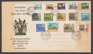 Southern Rhodesia 1966 FDC First Day Cover Definitive issue Independence Animals