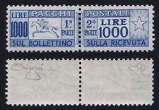 """Italia 1954 """"Cavallino"""" L.1000 oltremare n.81 nuovo MNH** gomma integra Raybaudi"""