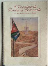 Calendario coloniale 4° reggimento fanteria  Battaglioni libici