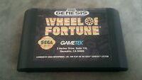 Sega genesis wheel of fortune gametek vintage game