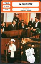 LA BANQUIERE - Schneider,Trintignant,Girod(Fiche Cinéma) 1980 - The Woman Banker