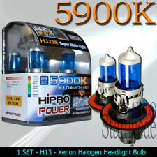 H13 SUPER WHITE 5900K XENON HALOGEN HEADLIGHT BULBS
