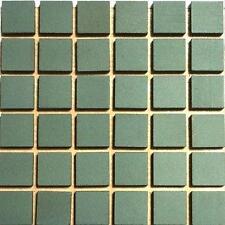12mm Ceramic Unglazed Porcelain Mosaic Tiles. Dark Green. 121 Tile Pack