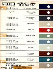 1951 PONTIAC CHIEFTAIN CATALINA DELUXE STREAMLINER 51 PAINT CHIPS NASON