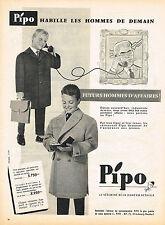 PUBLICITE ADVERTISING 1958   PIPO   manteaux vetements