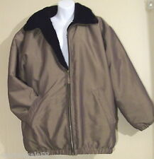 Plush FAUX FUR Lined Shiney Brown WOMENS Winter JACKET Coat Med