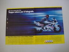 advertising Pubblicità 1991 MOTO SUZUKI GSX 750 R