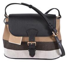 New Burberry Women's $700 Canvas Nova Check Gowan Crossbody Bag Purse