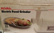 Rival 2250 White Electric Food Meat Grinder Sausage Stuffer Attachment