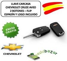 LLAVE FUNDA COCHE CARCASA CHEVROLET CRUZE AVEO FLIP 2 BOTONES. ESPAÑA