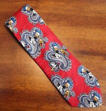 Disney Mickey Unlimited Neck Tie 100% Polyester Made in Korea Paisley Pattern