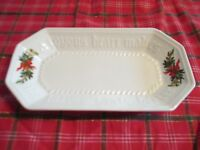 "Pfaltzgraff - Christmas Heritage Bread Loaf Serving Tray ""A Joyous Heart Makes.."