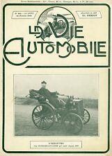 PANHARD-LEVASSOR Couverture originale entoilée VIE AUTOMOBILE 25/2/1911 26x34cm
