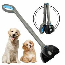 Non-Breakable Pet Pooper Scooper for Large and Small Dogs, Long Handle Blue