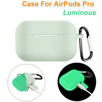 Luminous Silicone Protective Skin Charging Case Cover For AirPods Pro 2019