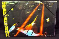 Plastic File Folder w/Elastic Fastener ~ Naboo Starfighter Ship ~ Star Wars 1