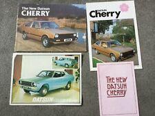 Datsun Cherry brochures x3 1980s plus  FII Coupe brochure 1977
