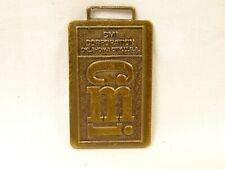 Nice Vintage CMI Construction Machinery Inc Bronze  All Metal Watch Fob