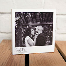 PERSONALISED 5x5 INCH POLAROID PHOTO BLOCK, GREAT RETRO GIFT, YOUR PHOTO & TEXT