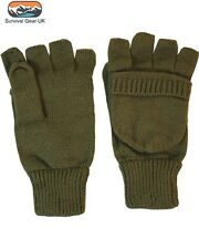 Kombat Hunters Mitts Gloves Shooting Fishing Thermal GREEN (M) - FREE DELIVERY