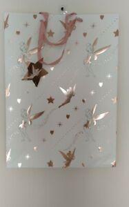 Disney Tinkerbell Birthday Gift Bag Extra Large Pink Rose Gold