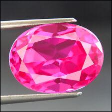8.35 CTS 100% AAA+ DEEP SWEET PINK SAPPHIRE (Lab Created) Oval rose saphir