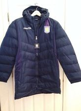 MACRON 2013-14 EPL ASTON VILLA PLAYER ISSUE FITTED PUFFER BENCH JACKET SIZE 4XL