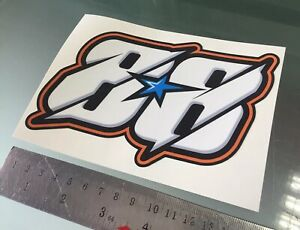 Miguel Oliveira Number 88 Sticker Decal NEW COLOUR!! (150mm x 100mm)