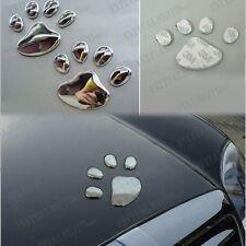 Chrome Vehicle Metal Bear Dog Footprint Paw Claw Emblem Logo Badge Sticker Decal